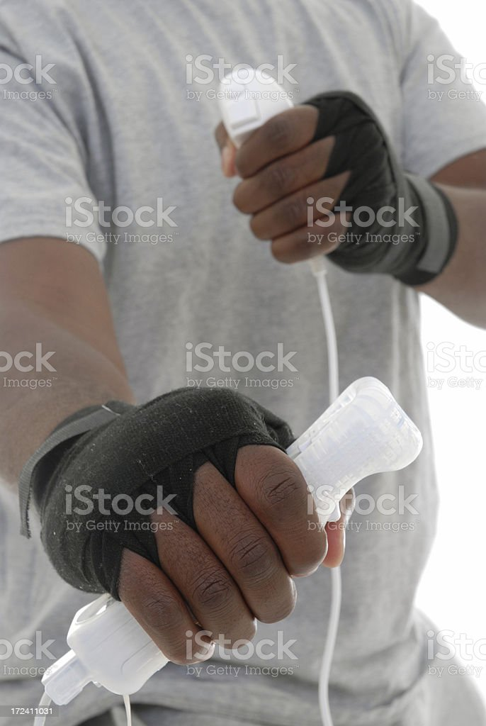 Video boxing royalty-free stock photo