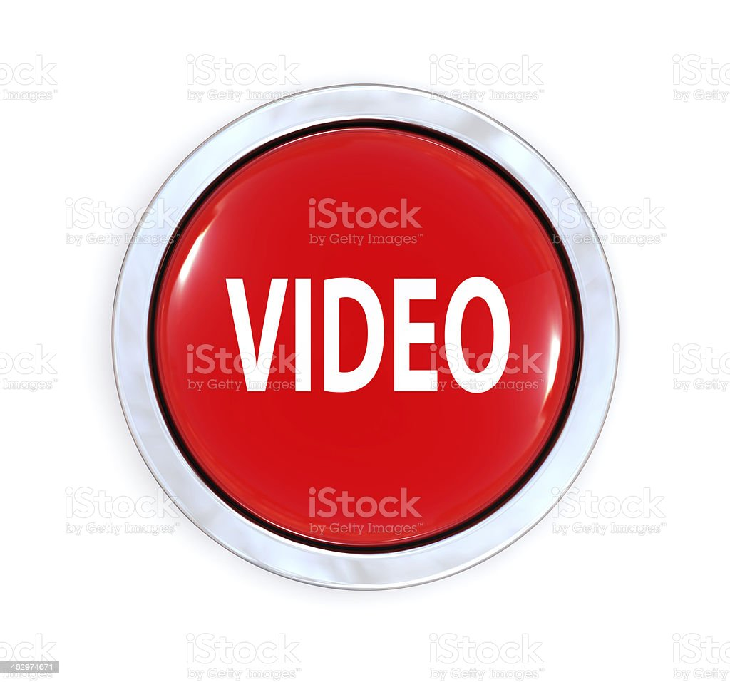 Video Button stock photo