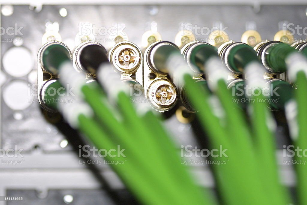 video cables @ postpro royalty-free stock photo