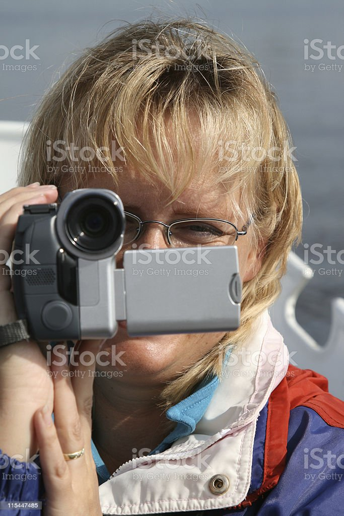 Video Cam Woman royalty-free stock photo