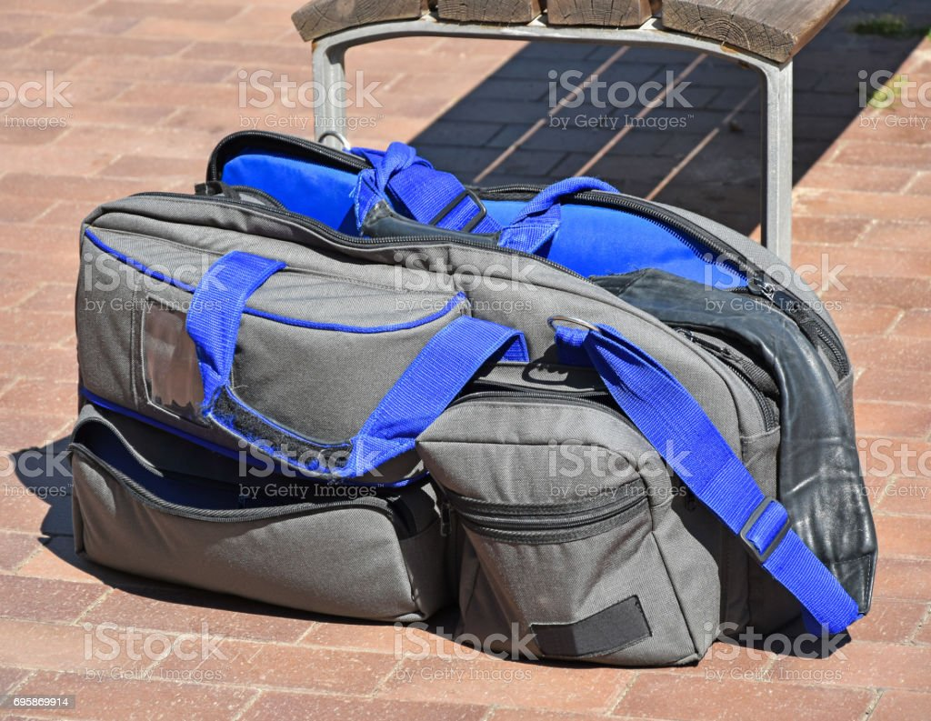 Video camera bag stock photo