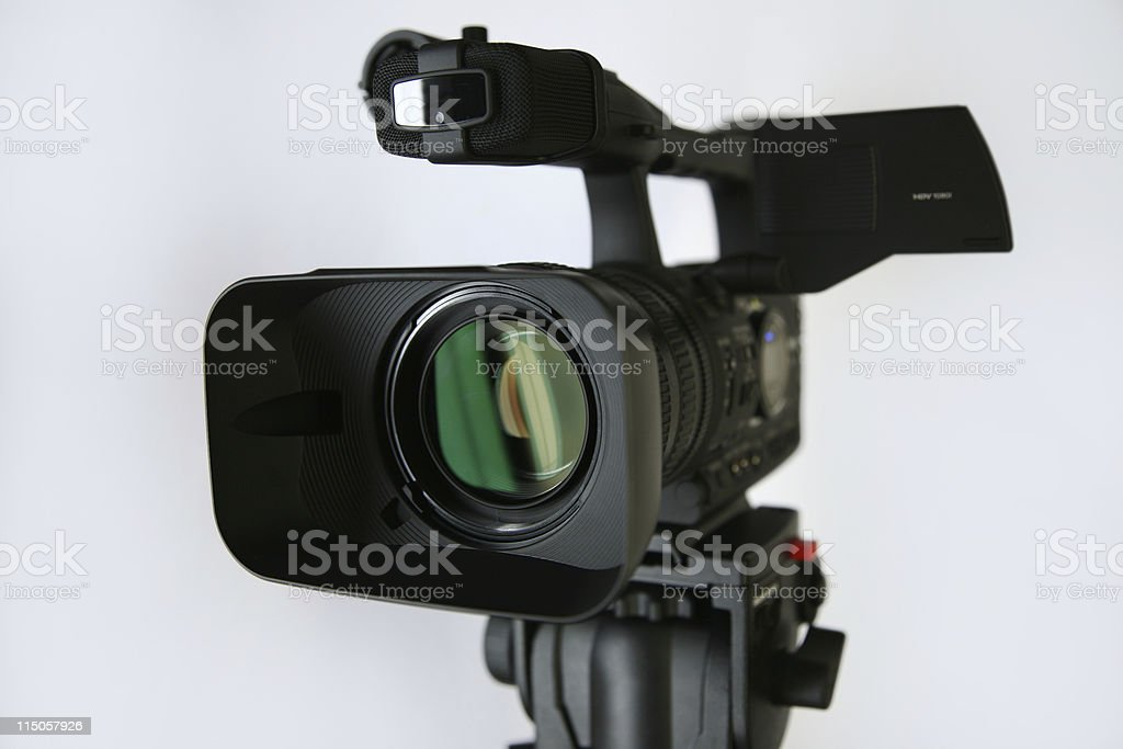 video camera, clipping path stock photo