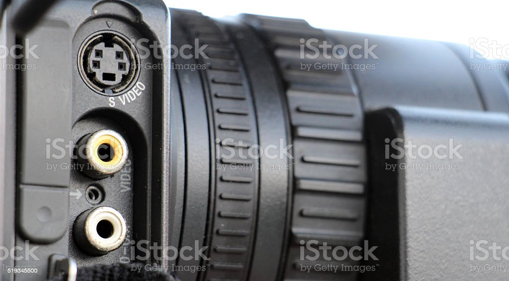 video camera controls stock photo