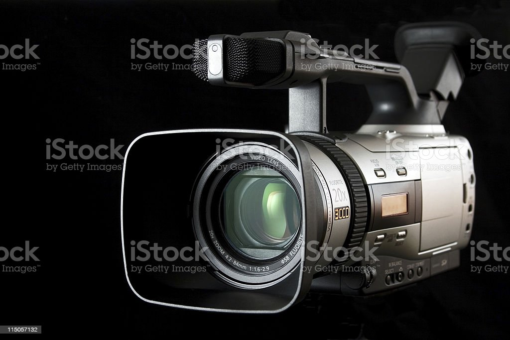 Video Camera isolated royalty-free stock photo