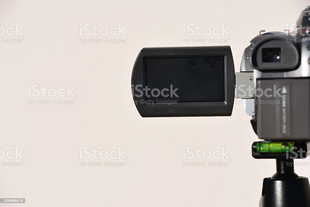 Video Camera on a Tripod stock photo
