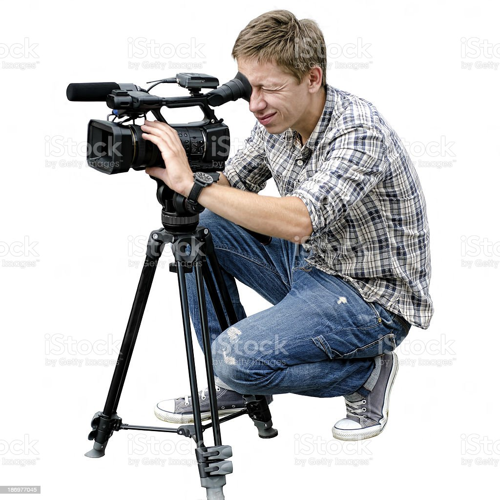 Video camera operator royalty-free stock photo