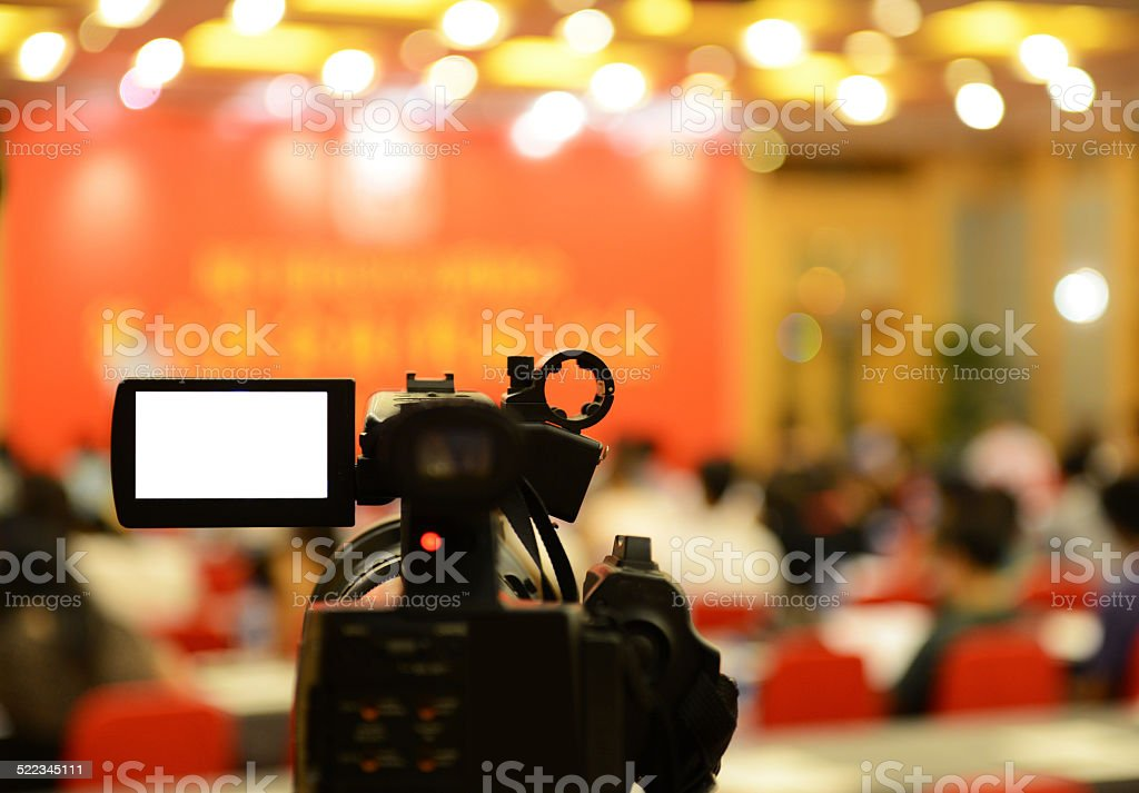 video camera stock photo