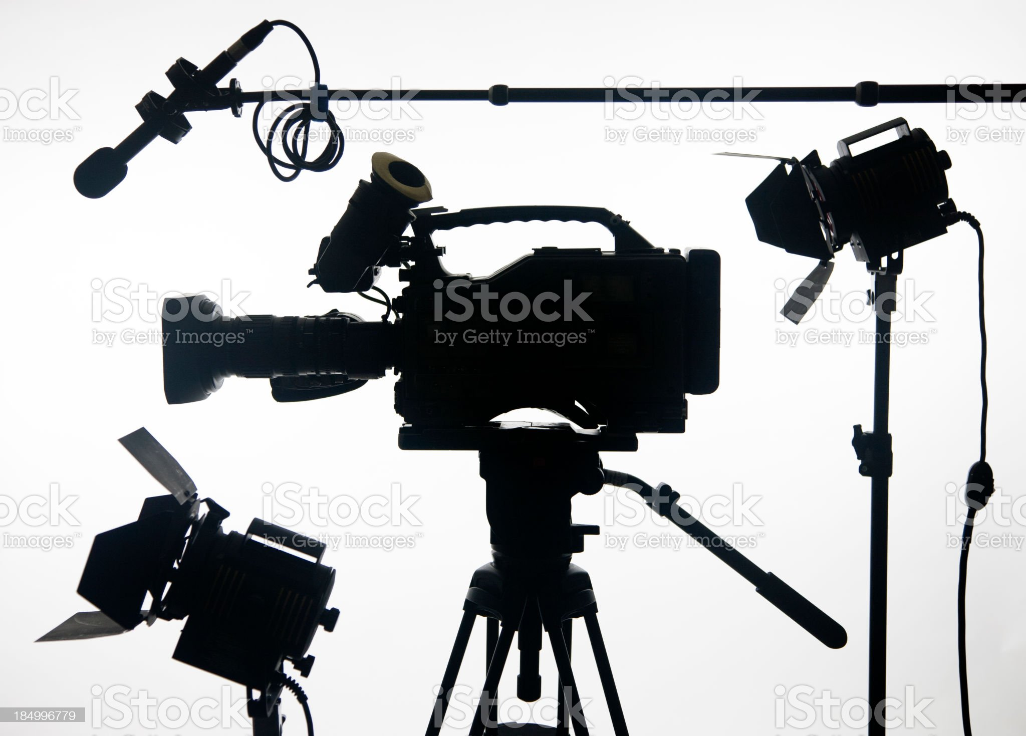video camera with gear royalty-free stock photo