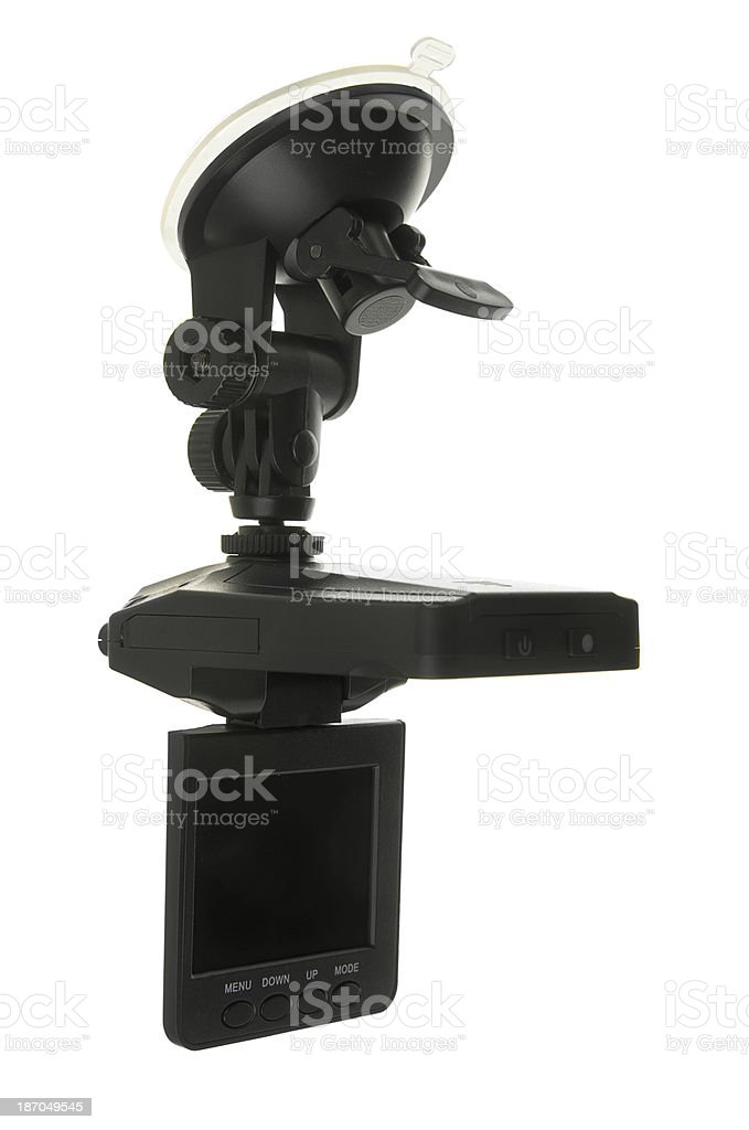 Video Camera With Suction Mount For In Car Use stock photo