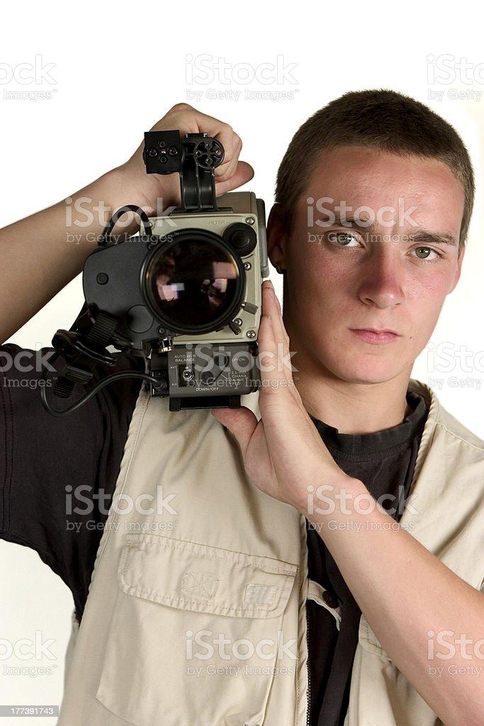 video cameraman royalty-free stock photo