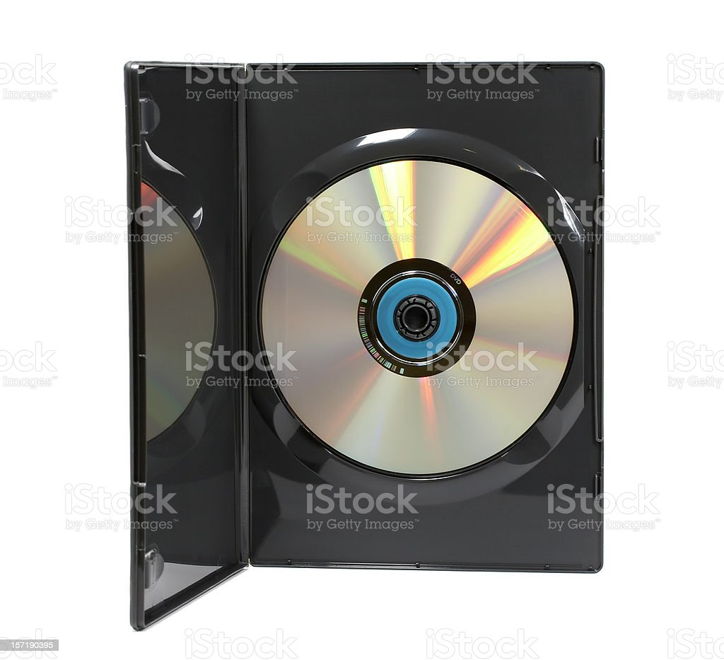 DVD video case (clipping path), isolated on white background royalty-free stock photo