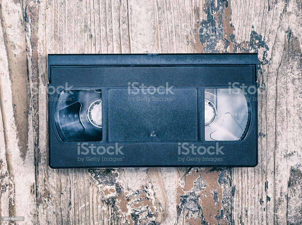 video cassette close-up stock photo