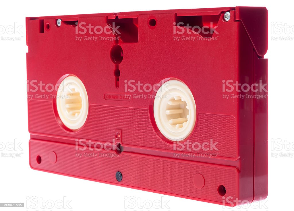 Video cassette isolated on white background stock photo