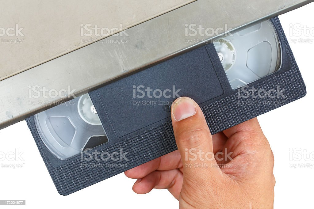 video cassette stock photo