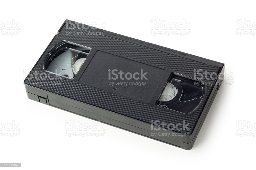 VHS video cassette tape isolated on a white background stock photo