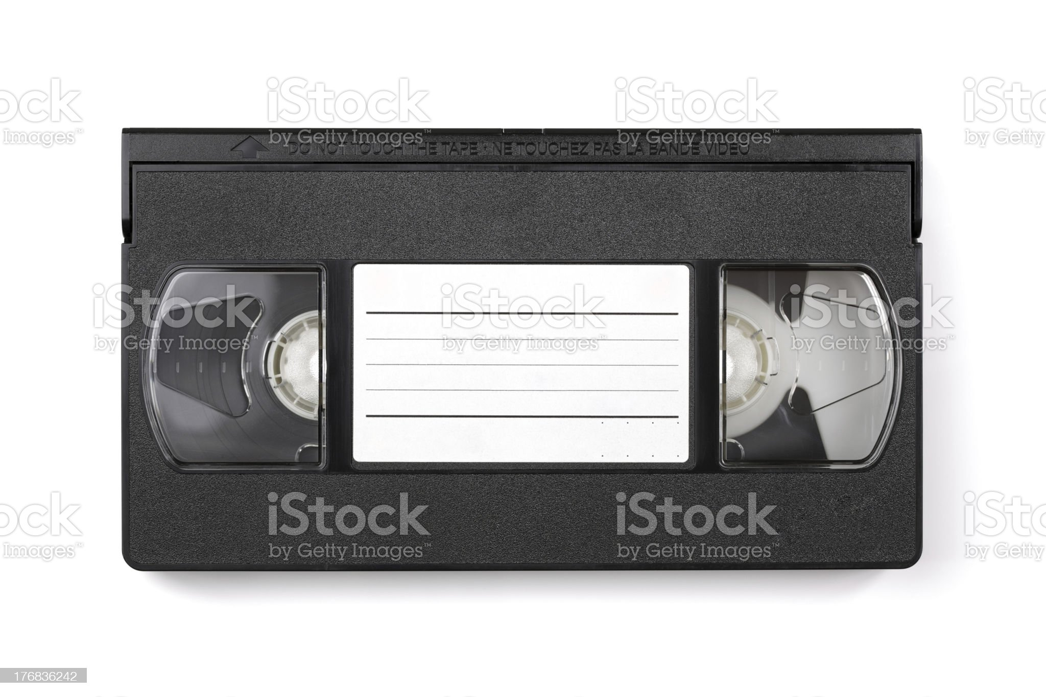 Video cassette tape with copyspace royalty-free stock photo