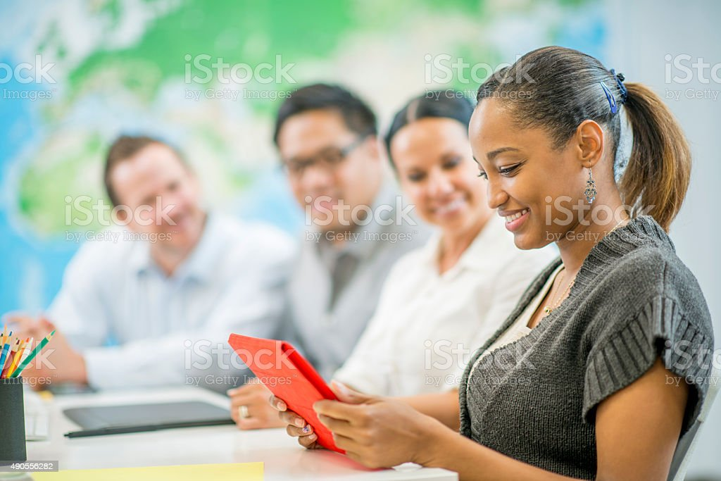Video Conference Call stock photo