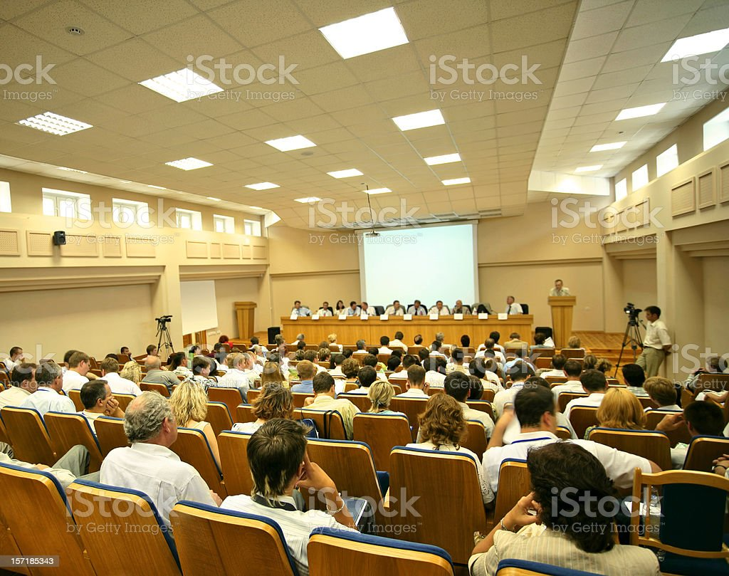 Video conference royalty-free stock photo