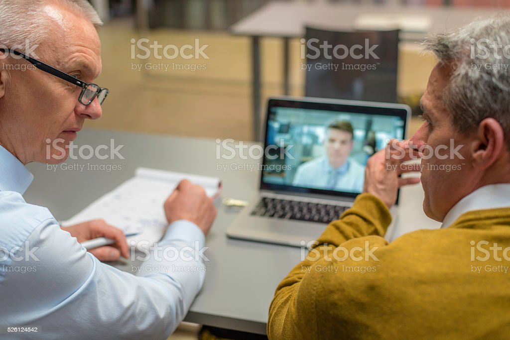 Video conference stock photo