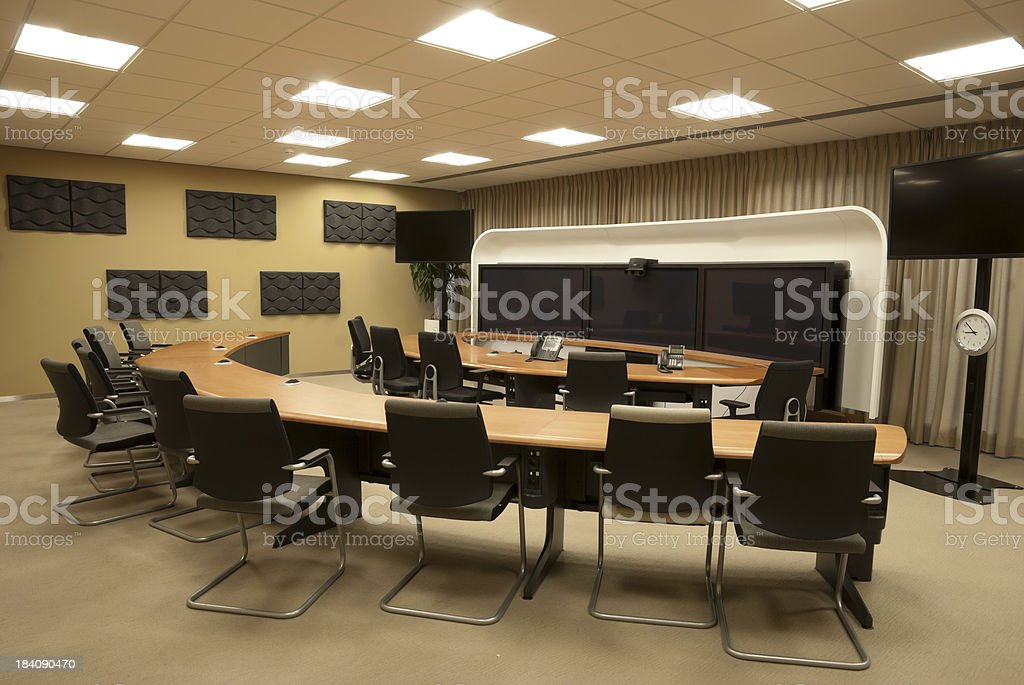Video conferencing room royalty-free stock photo