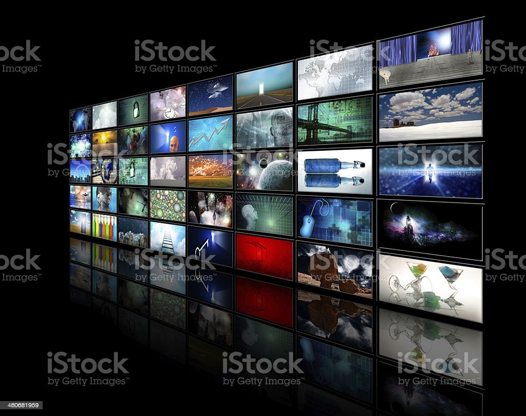 Video displays stock photo