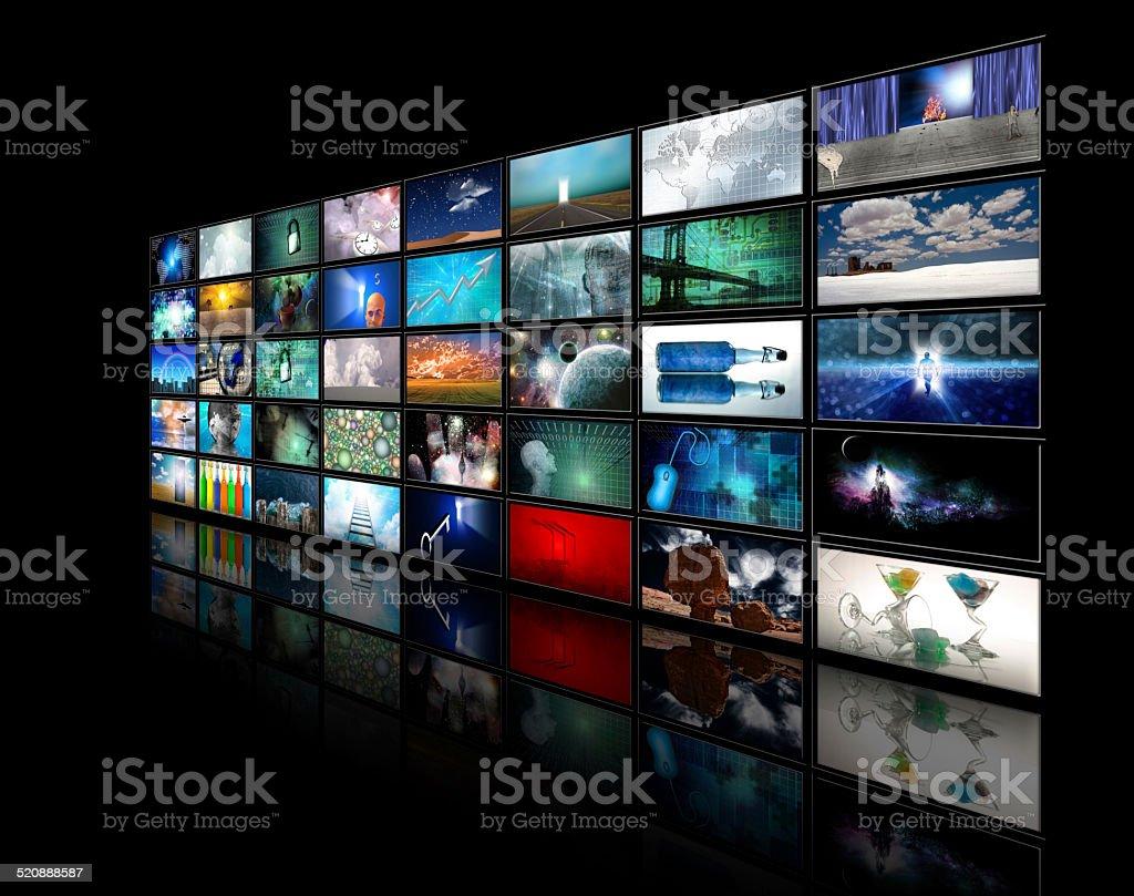 Video displays stock photo