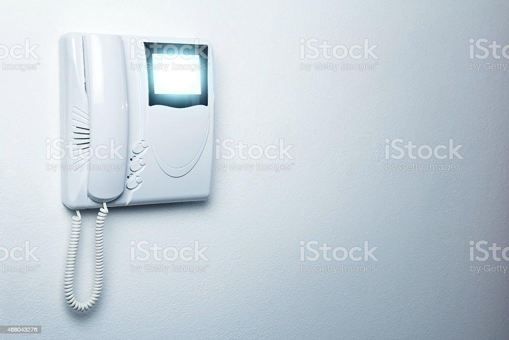 video entryphone stock photo