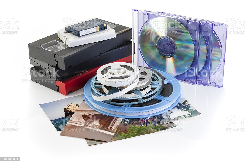 Video, Film, Photo - DVD Transfer royalty-free stock photo