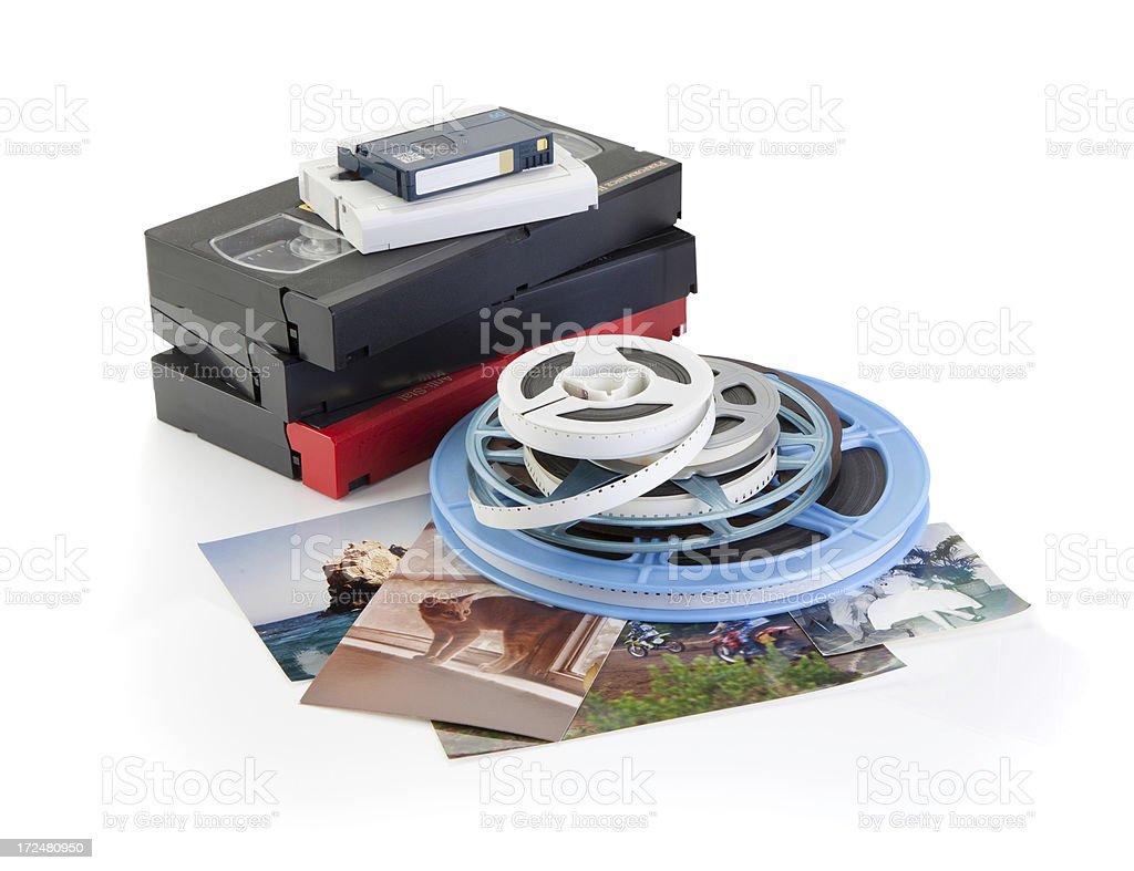 Video, Film, Photo - DVD Transfer royalty-free stock photo
