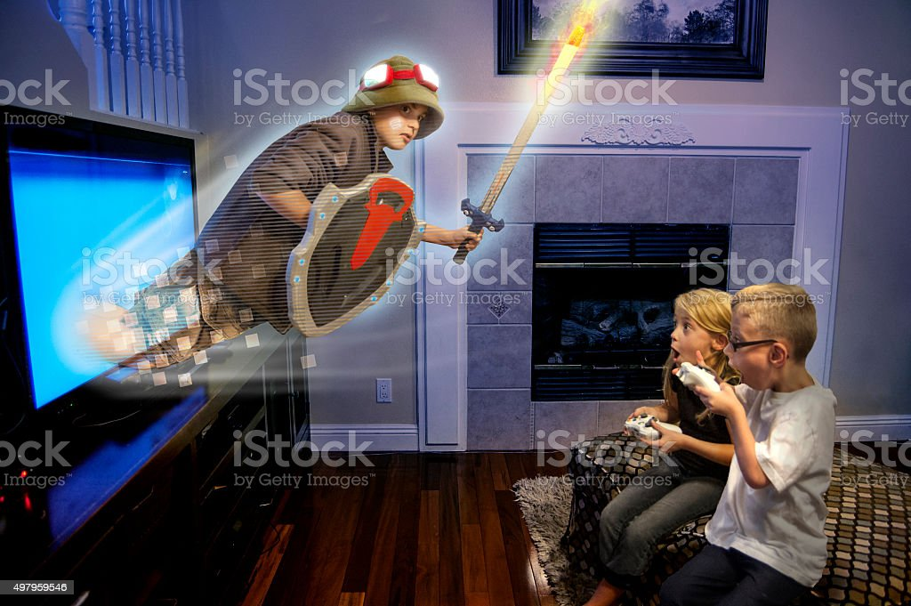 Video Game Comes to Life stock photo