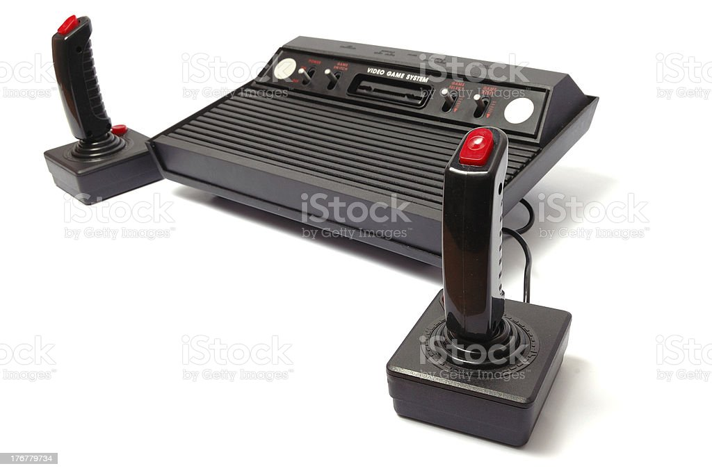 Video game console stock photo