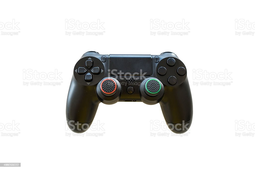 video game controller isolated on white background stock photo