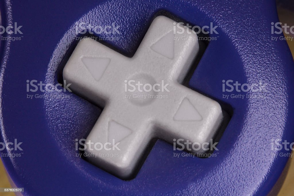 Video Game Controller Macro stock photo
