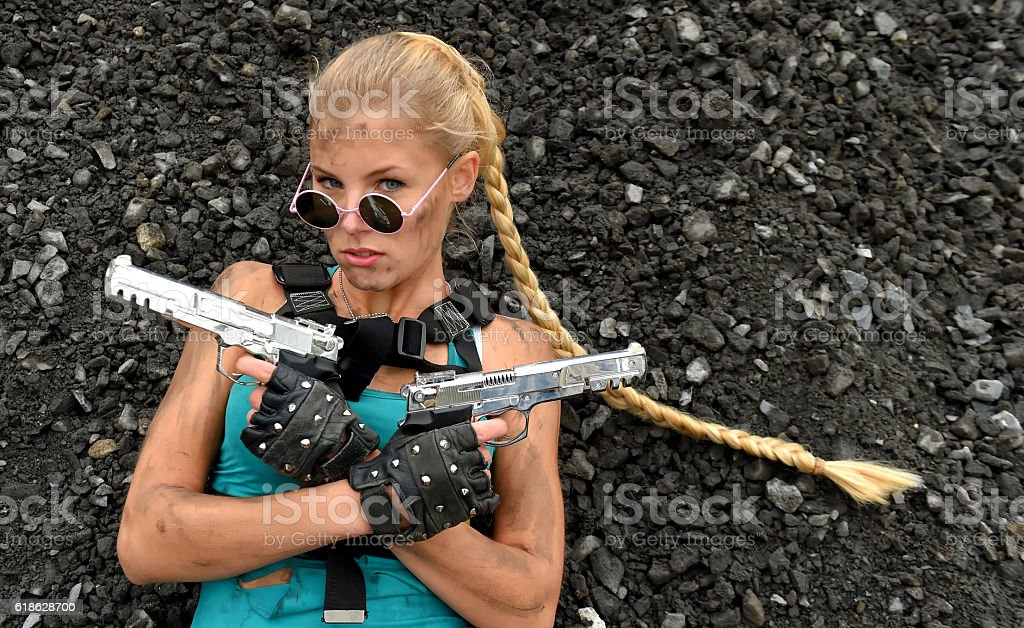 Video Game Girl two stock photo