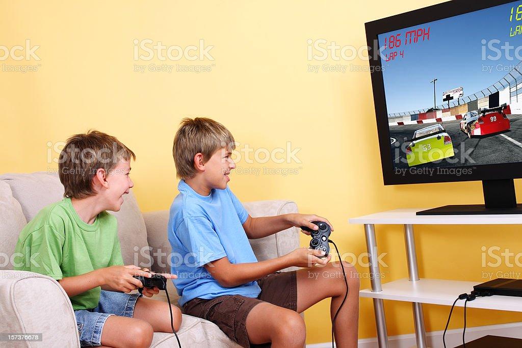 Video Game Kids royalty-free stock photo