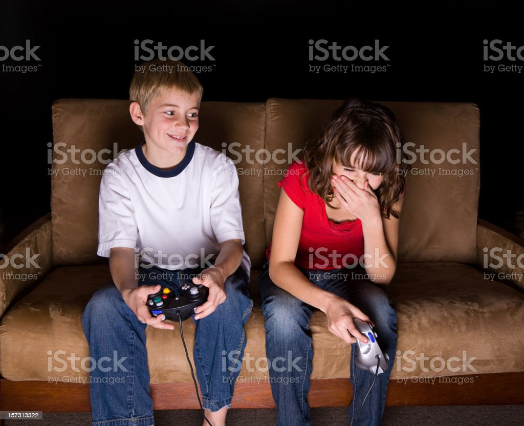 Video Game Players royalty-free stock photo