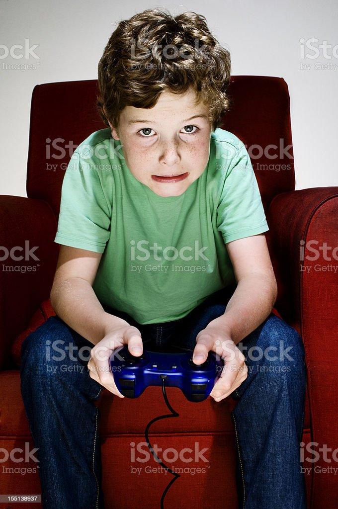 Video Gamer Boy royalty-free stock photo
