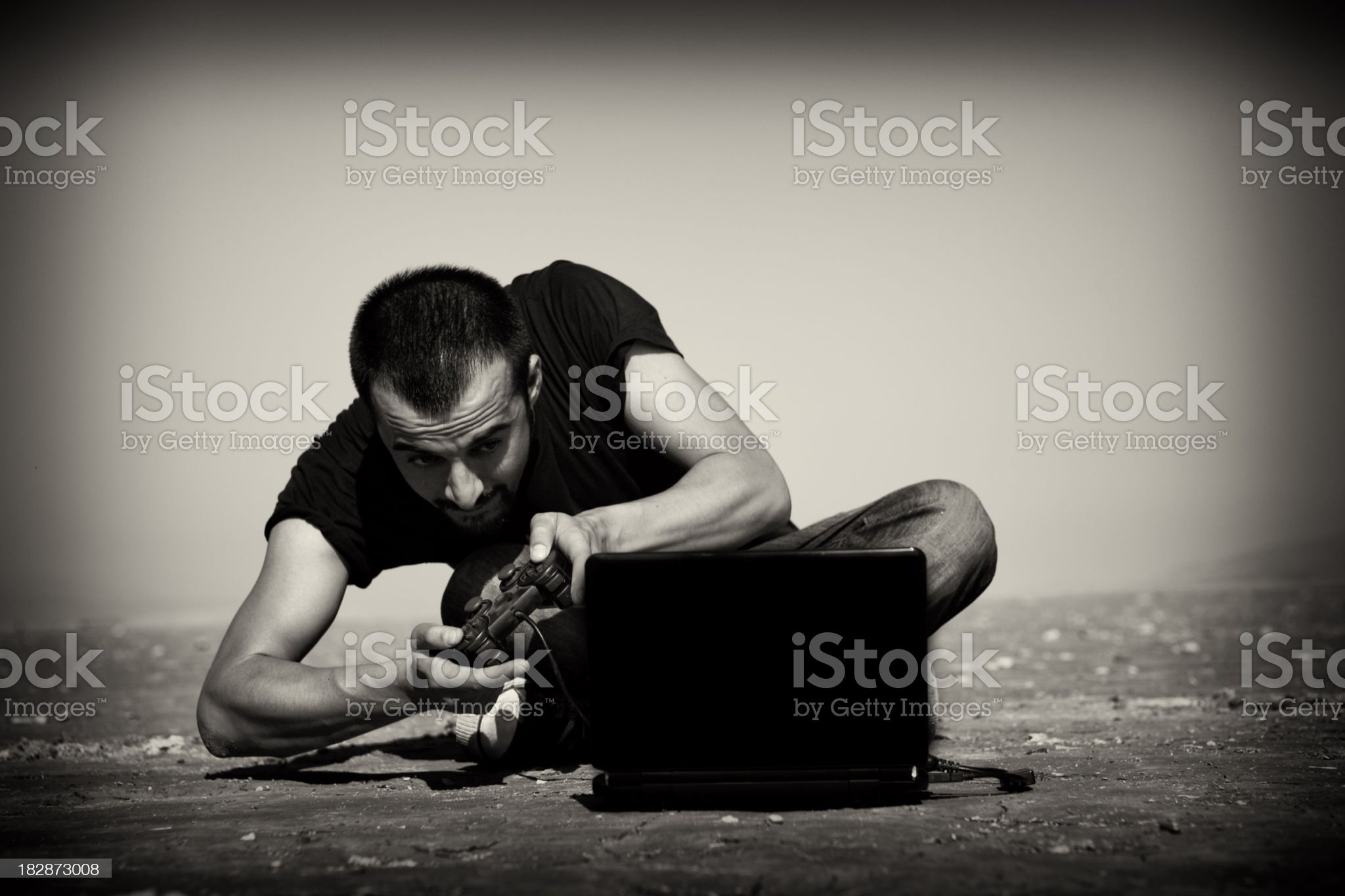 video gamer royalty-free stock photo