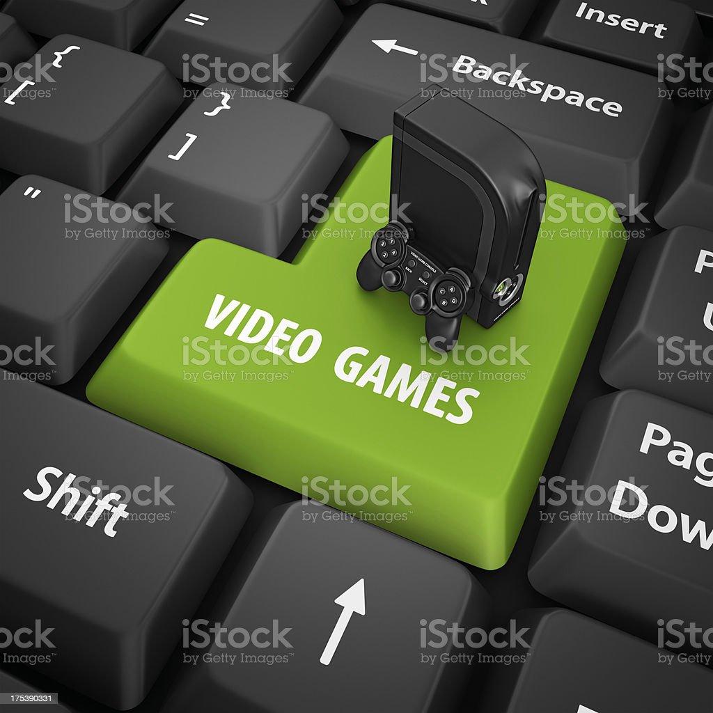 video games enter key royalty-free stock photo