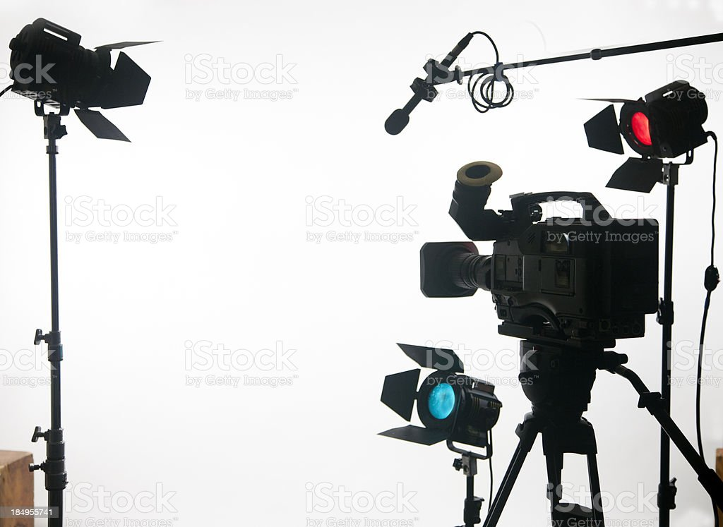 Video gear with open area two stock photo