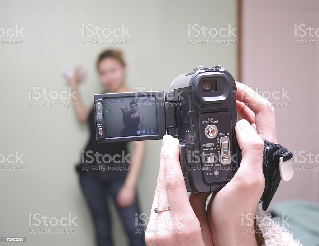 Video girl stock photo