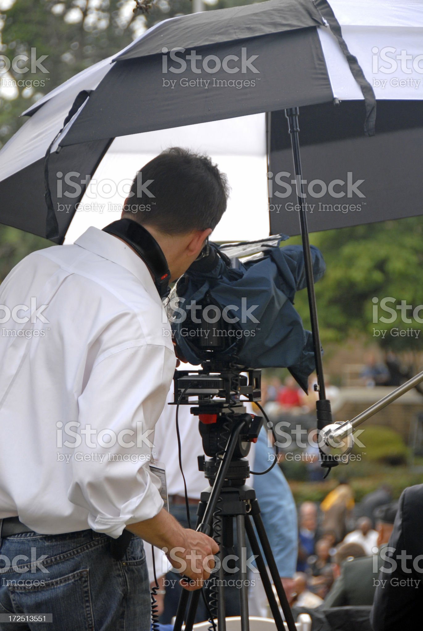 Video in the Rain royalty-free stock photo