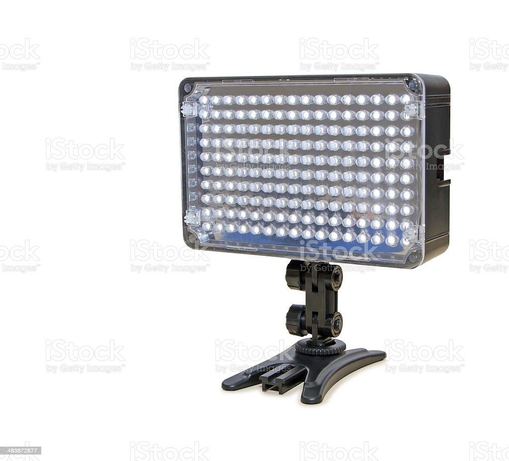Video lighting LED, isolated on white background stock photo