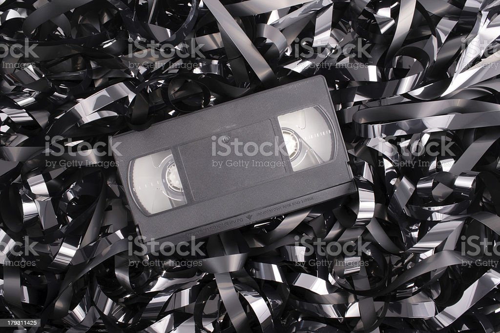 Video mess stock photo