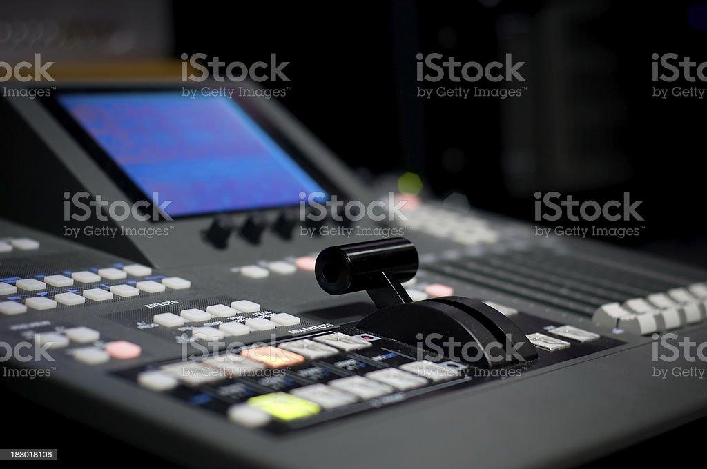 Video mixer royalty-free stock photo