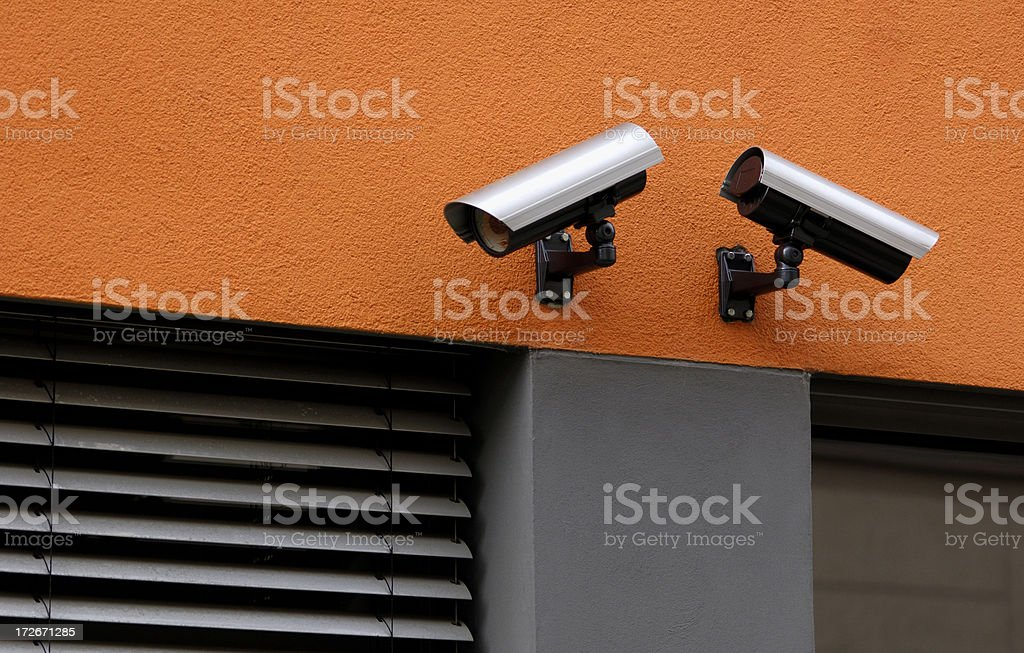 Video observation royalty-free stock photo