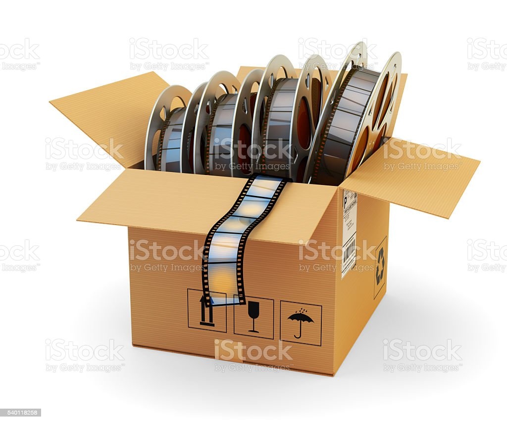 Video on demand and multimedia pack concept stock photo