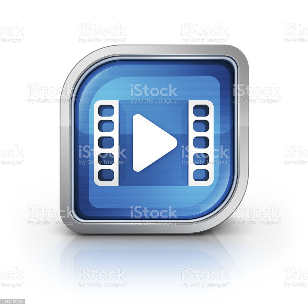 video Or movie streaming Icon stock photo