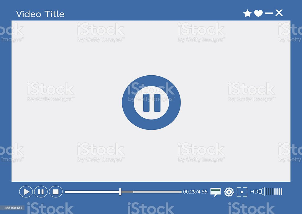 Video player media for web and mobile apps royalty-free stock photo