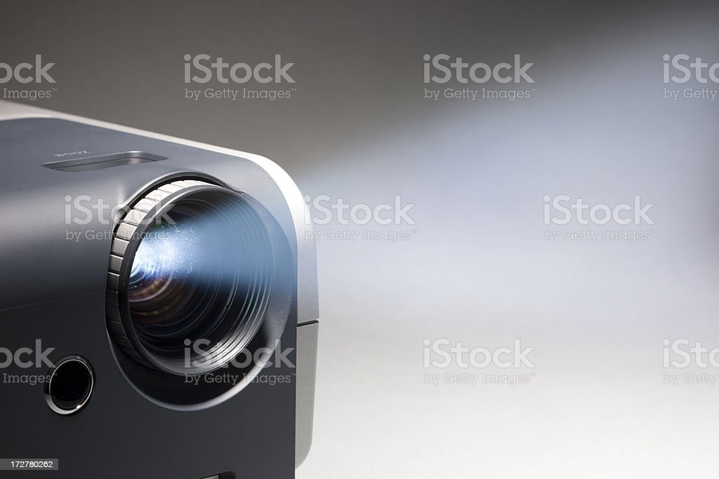 Video Projector Beam stock photo